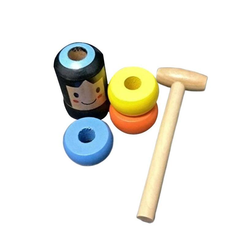 1set Immortal Daruma Unbreakable Wooden Man Magic Toy Magic Tricks Close Up Stage Magic Props Fun Toy Accessory