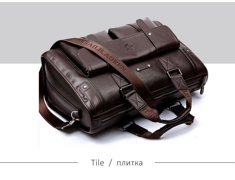H4929b0fd823c458a8045b116238b6021g Men Leather Black Briefcase Business Handbag Messenger Bags Male Vintage Shoulder Bag Men's Large Laptop Travel Bags Hot XA177ZC