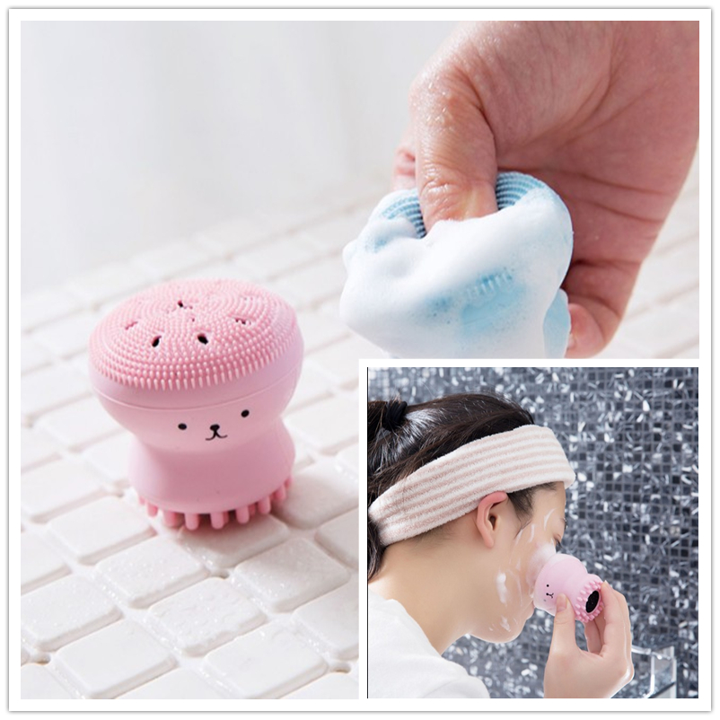 Silicone Octopus Makeup Washing Brush For Face Massage Facial Cleanser Brush Cosmetic Cleaning Tools