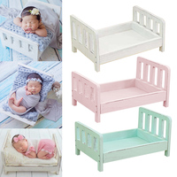 New Baby Wooden Bed Gift Photo Prop Posing Portable Durable Photography Shotting DOM668 Background     -