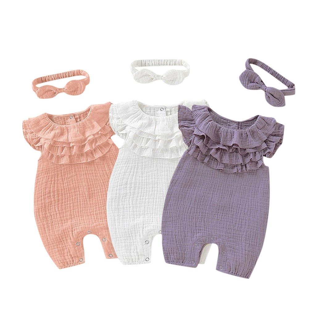 Novo nascido roupas recém-nascidos do bebê meninas meninos sólido sem mangas macacão macacão roupas roupas do bebê da menina macacão roupas criança p30
