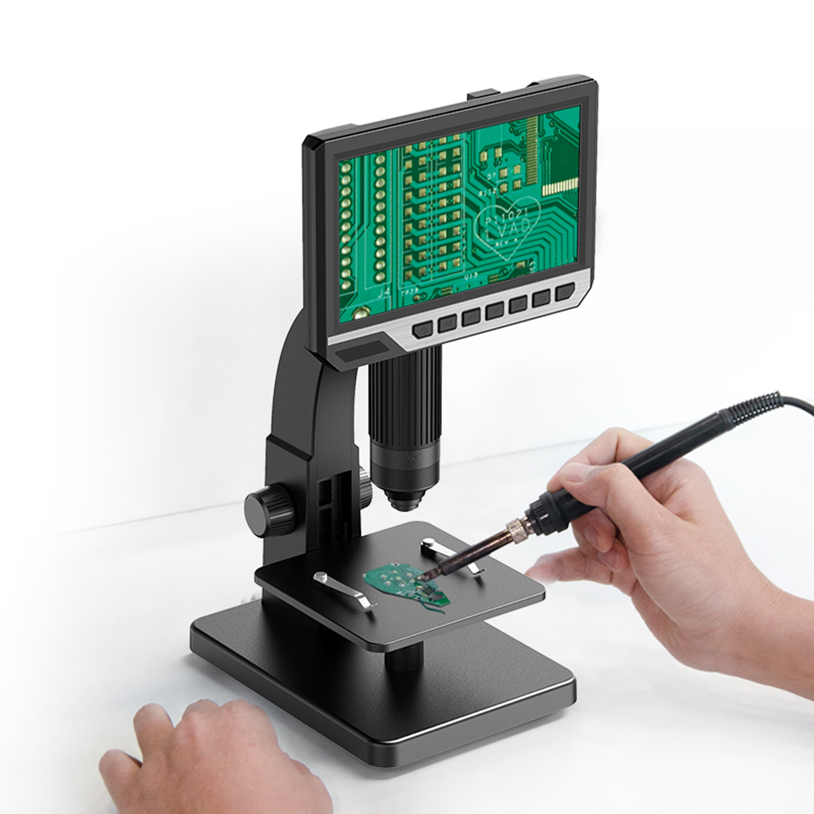 0 Light Tool Dual Inch LED 7 IPS Multipurpose Screen Source Digital Industrial Camera Inskam315 High Definition Microscope 2000x