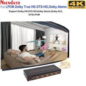 Image 4 - 5 Port akıllı CEC HDMI zamanlama anahtarı 4K 60Hz 18 Gbps 5x1 HDR HDMI adaptörü Switcher IR uzaktan için Dolby DTS HD LPCM HDTV PS4