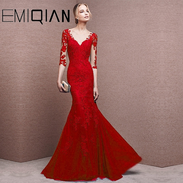 Mother Of The Bride Dresses Mermaid Half Sleeves Tulle Appliques Long Wedding Party Dresses Mother Dresses For Wedding 1
