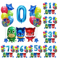 Hot Original Pj Masks Birthday Party Room Decoration Pj Mask Juguete Cartoon Anmie Figures Balloons Kids Toys for Children S23