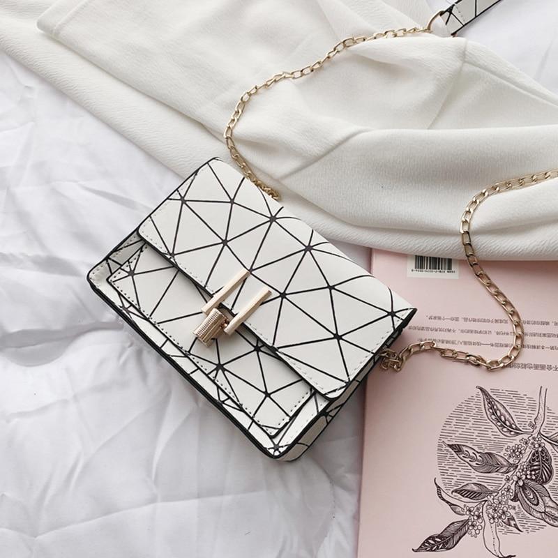 Women Fashion Shoulder Messenger Bags Ladies Geometric Plaid Crossbody Handbag Female Mini Flap Bag New Korean Style Tote SS0425 (3)