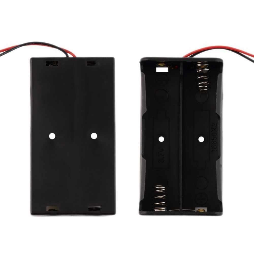Universele Plastic Batterij Storage Case Voor 2 Stuks 18650 Batterijen Professionele Batterij Houder Met Draad Leads