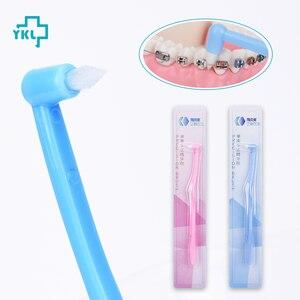 Image 2 - Y kelin brosse à dents orthodontique à faisceau unique dents féminines spécial petite tête Implant de cheveux doux brosse à dents adulte avec accolades