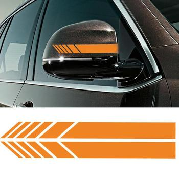 1 Pair Universal Rear View Mirror Stickers Decor DIY Car Body Side Stripe Decals image