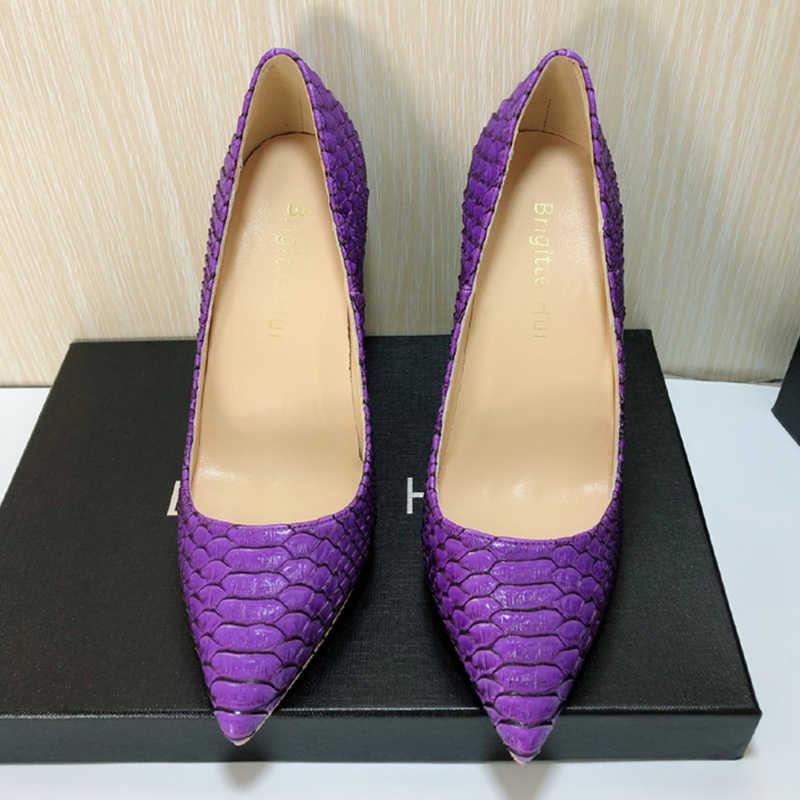 Yüksek topuklu seksi kadın zarif topuk ayakkabı kaliteli ince topuk burun toe 12cm patent deri pompaları toplantı parti ayakkabıları 2020