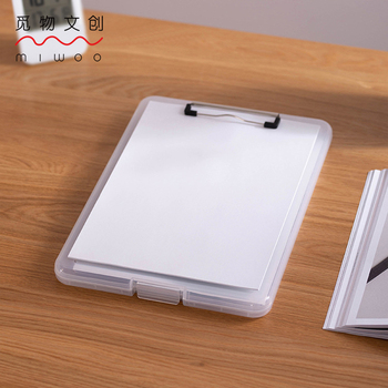 waterproof Writing Pad Clip File Box Plastic Folder Storage Box Outdoor Waterproof Clip Board Clipboard A4 Paper Holder Office ten win new clipboard office plastic blue black solid a4 size document clipboard school supplies clip board with pen holder