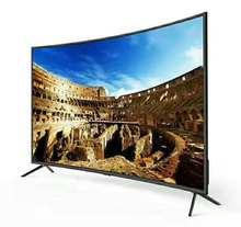 Monitor lcd curvo de 60 pulgadas, TV inteligente con android, Dolby, DVB-T2, S2, wifi, bluetooth, led