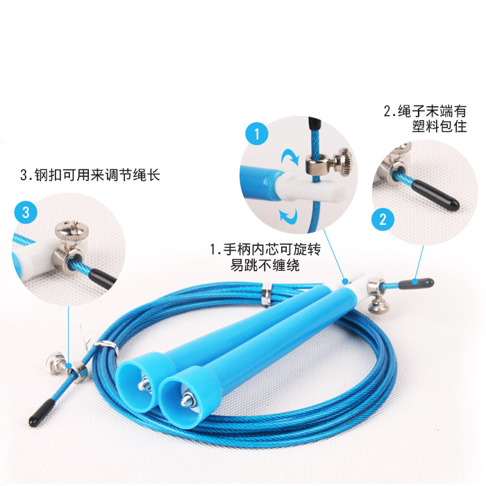 Steel Wire Children The Academic Test For The Junior High School Students Only Jump Rope Young STUDENT'S Adult Losing Weight Fit