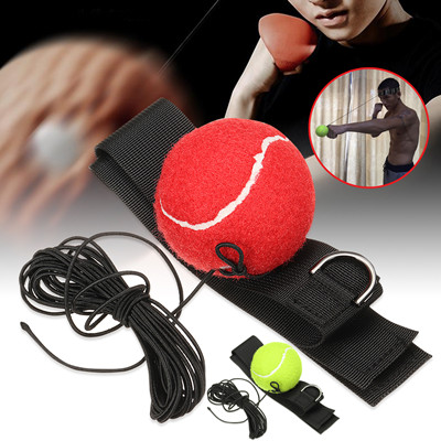 E306 Boxing Reaction Speed Punch Ball Sanda Raising Reaction Force Hand Eye Training Set Stress Boxing Muay Thai Exercise