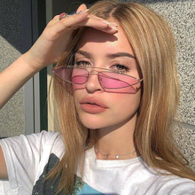 Fashion Triangle Cat Eye Sunglasses Women Vintage Small Metal Frame Sun Glasses