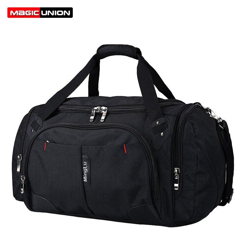 MAGIC UNION voyage bagages sac sport sac de sport avec chaussures compartiment polochon sacs pour hommes femmes sacs à dos pliants 40L capacité