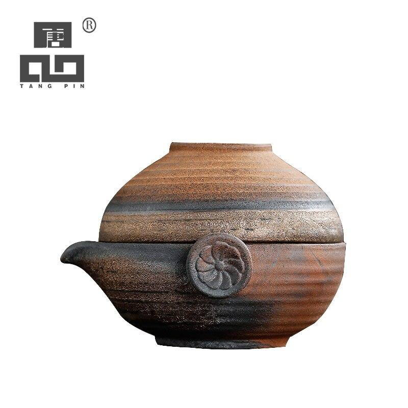 TANGPIN Japanese Ceramic Teapot Gaiwan Tea Cup A Tea Sets Portable Travel Tea Sets Drinkware