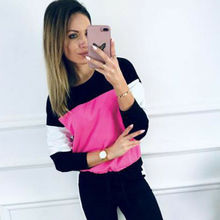 Women Tracksuit Casual Spring Autumn Long Sleeve Tops T-shirt+ Pants Ladies Activewear Sport Lounge Wear 2 Pieces Set Size 6-12
