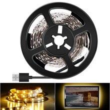 Wewnętrzna taśma Led 5V lampa USB SMD 2835 1M 2M 3M 4M 5M Tiras Led listwa oświetleniowa zimny/ciepły biały podświetlenie do telewizora oświetlenie sypialni