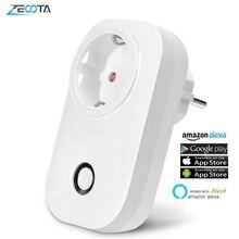 WIFI Ổ Cắm Điện Thông Minh Điện Ổ Cắm WIFI Thông Minh EU Cắm Voice Thời Điểm Điều Khiển Từ Xa Bằng Alexa Echo Dot Google Home