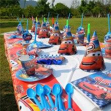 162 pz/lotto Cartoon Disney saetta McQueen auto tema usa e getta tazza piatto festa di compleanno decorazione stoviglie forniture per bambini