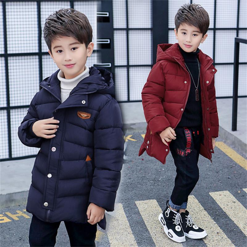 Winter Children Coat Outwears Jacket Hooded Padded-Cotton Boys Fashion New-Arrivals
