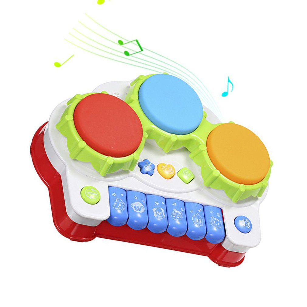 Enhance Your Baby Drums Piano Music Toys Keyboard Toddler Musical Instrument