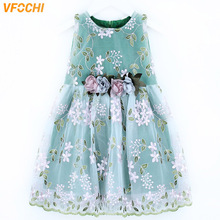 VFOCHI 2020 Girl Dresses Summer Girls Clothes Lace Floral Embroidery Baby Girls Dress Fashion Kids Dresses For Girls Party Dress neat summer girl dress fashion dresses for girls 100
