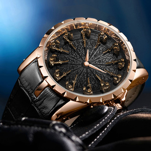 Image 4 - ONOLA brand unique quartz watch man luxury rose gold leather cool gift for man watch fashion casual waterproof Relogio Masculino