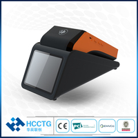 Android 7.0 Handheld POS Machine, POS Terminal with Printer for E wallet Application Bus Ticket Printer