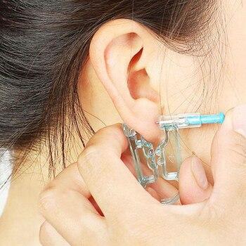 Unidad desechable de Asepsis DE SEGURIDAD saludable, Piercing para oreja, pistola, herramienta para Piercing, Kit de máquina, pendiente Studex, joyería para el cuerpo