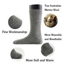 цена New Men's Super Thick Merino Wool Socks High Quality Big Size Men Wool Socks Soild Color Brand Winter Warm Wool Socks 3pair=1lot онлайн в 2017 году