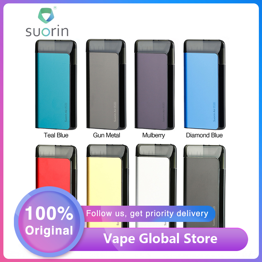 New <font><b>Suorin</b></font> <font><b>Air</b></font> <font><b>Plus</b></font> <font><b>Pod</b></font> Vape Kit w/ 930mAh Built-in Battery & 1.0ohm/0.7ohm Cartridge Updated <font><b>Suorin</b></font> <font><b>Air</b></font> E-cig Kit VS DRAG Nano image