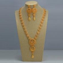 Индийские Чокеры Свадебные Ювелирные наборы с цепочкой золотые