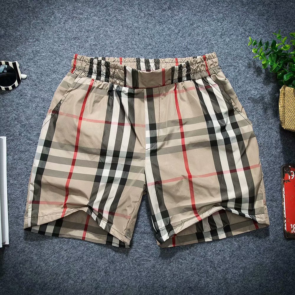 Beach Shorts Couples Shorts Deft Reds Celebrity Style Social Lively Fella Thin Shorts Fashion Man Plaid Shorts