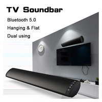 Bluetooth 5.0 FM Soundbar Wireless Speaker 20W Home Theater Column Surround Sound System Stereo Wall Mounted Speaker