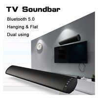 Bluetooth 5.0 FM Soundbar Altoparlante Senza Fili 20W Home Theater Colonna Sistema Audio Surround Stereo A Parete Altoparlante