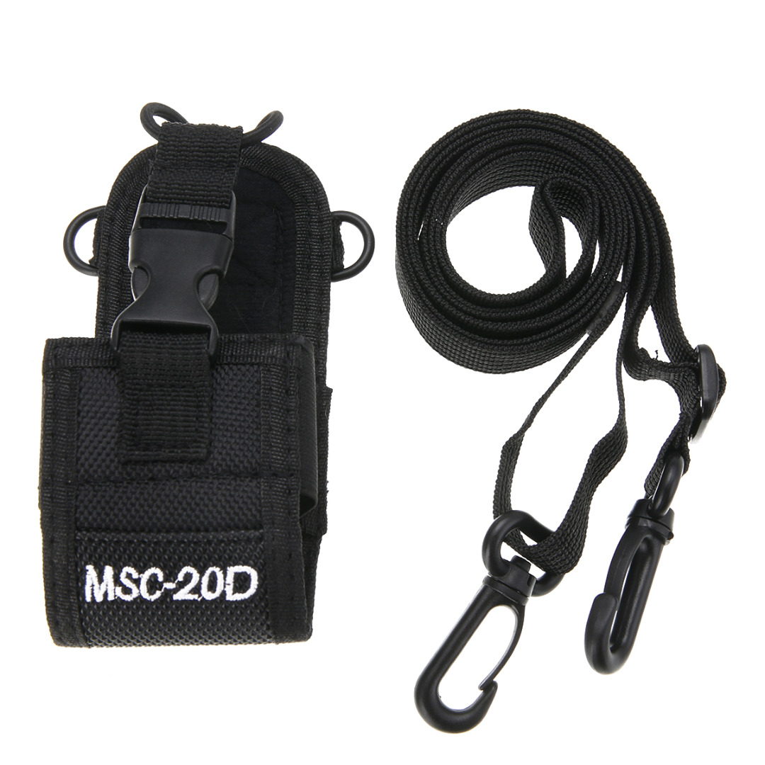 Portable MSC-20D Nylon Pouch Bag Walkie Talkie Carry Case For Baofeng Motorola Kenwood Radio Walkie Talkie Holster