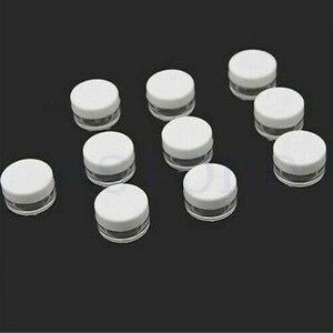 Image 5 - 50 sztuk 2g/3g/5g/10g/15g/20g plastikowe przezroczyste pojemniki na kosmetyki pojemnik biały pokrywka balsam w butelce fiolki krem do twarzy próbki garnki żelowe pudełka