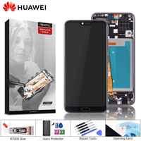 Affichage d'origine pour Honor 10 écran tactile d'affichage à cristaux liquides avec remplacement d'empreintes digitales pour Huawei Honor 10 affichage avec cadre