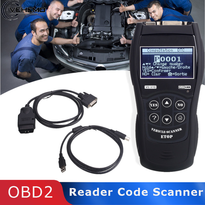 Vehemo ABS Tool OBD2 Automatic Diagnostic Tools Reader Code Scanner Accurate Scanner Maintenance for for Vs890 BUS Fault