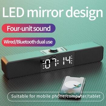 Altavoz Multimedia con alarma de casa para ordenador, altavoz subwoofer con bluetooth,...