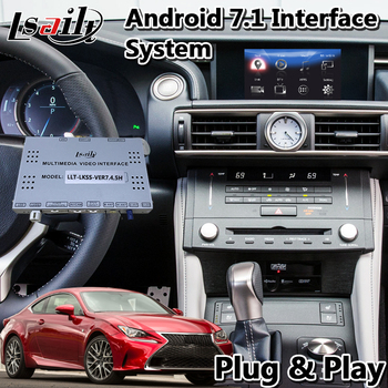 Lsailt Android Video Interface for Lexus RCF RC300h RC350 RC200t RC 2015-2017 Mouse Control Version with Car GPS Navigation