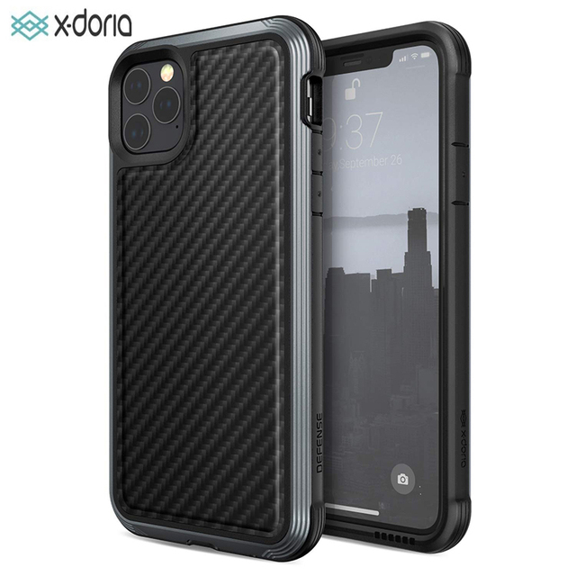 X Doria Defense Lux Phone Case For iPhone 11 Pro Max Military Grade Drop Tested Case Cover For iPhone11 Pro Aluminum Cover Coque