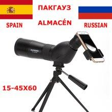 цена на HUANDEE 15-45X60 Monocular Telescopes Spotting Scope Telescope Zoom Waterproof Spotting Scopes For Hunting Telescope with tripod