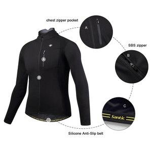 Image 2 - Santic Men Cycling Jacket Autumn Winter Windproof MTB Jackets Coat Keep Warm Breathable Comfort clothes Asian size KC6104