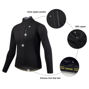 Image 2 - Santic hommes veste de cyclisme automne hiver coupe vent vtt vestes manteau garder au chaud respirant confort vêtements taille asiatique KC6104