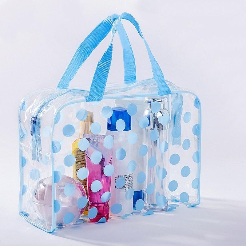 Waterproof Swimming Bags Sports Travel Bathing Storage Bag Women Transparent Organizer PVC  Bath Bag