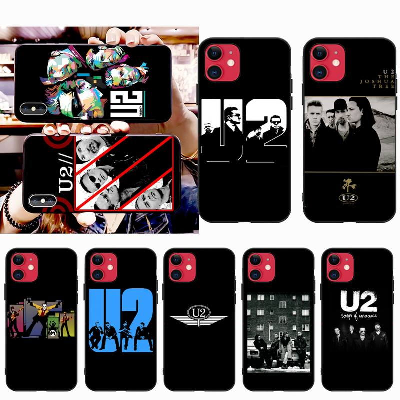 YJZFDYRM bono U2 Band Phone Case for iPhone 11 pro XS MAX 8 7 6 6S Plus X 5S SE 2020 XR case image