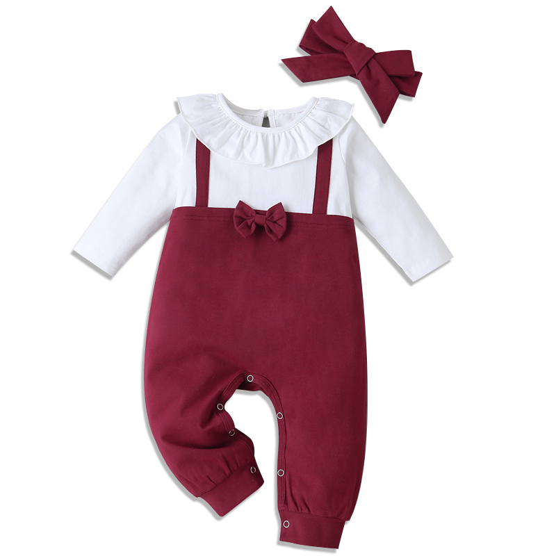 Baby Clothing Set Cotton 2pcs Baby Boy Clothes Birthday Clothing Toddler T-Romper +Pant + bow Baby Costume Newborn Outfit Suit